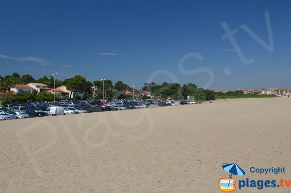 Parking of Racou beach
