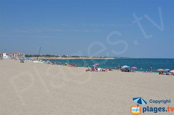 Spiaggia di Racou a Argelès sur Mer in Francia