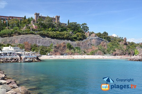 Photo of Rague beach in Mandelieu on Esterel coast
