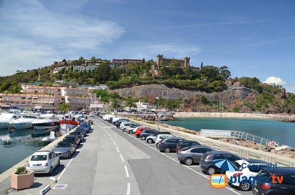 Parking of Rague beach in Mandelieu la Napoule