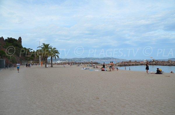 Rague beach in Mandelieu in France