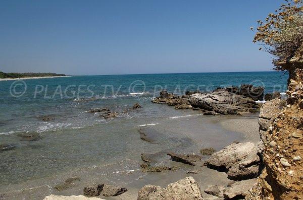 Roccia spiaggia del Ranch - Corsica