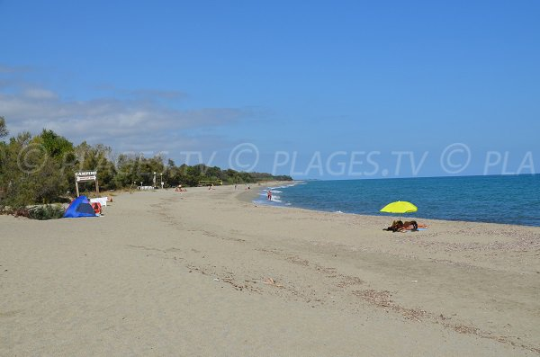 Beach near the campsite of Linguizzetta in Corsica