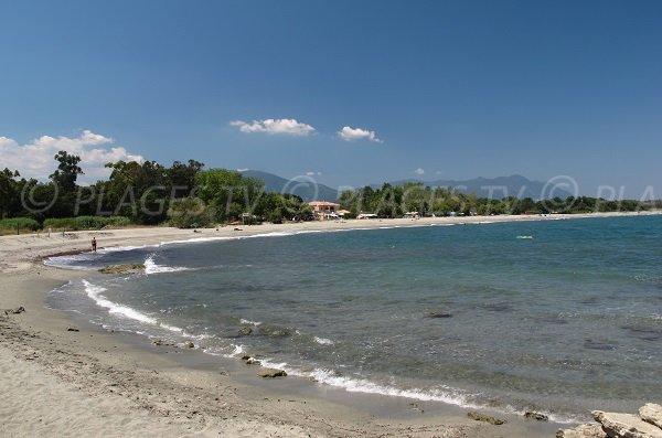 Ranch beach in Linguizzetta in Corsica