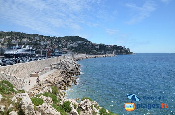 Photo of the Rauba Capeu beach in Nice in France