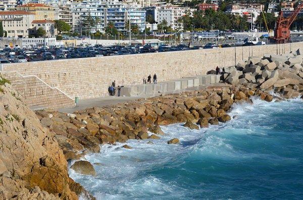 Spiaggia di Rauba Capeu a Nizza