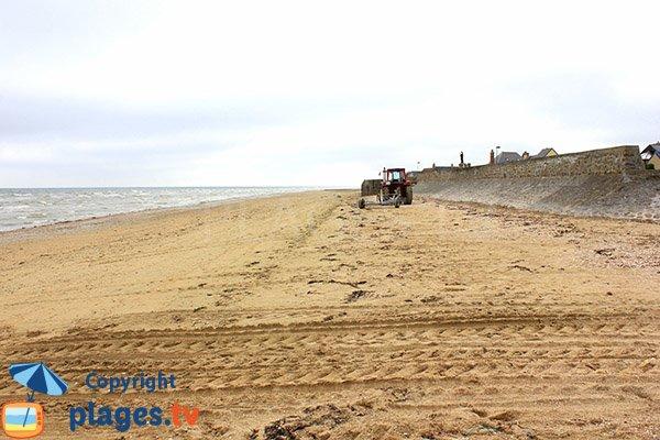 Plage de Ravenoville au niveau du Grand Hameau des Dunes