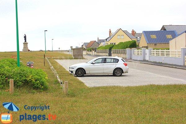 Parking de la plage de Ravenoville