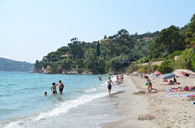 Rayol-Canadel beach in France