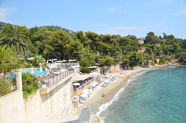 Hotel on the Rayol beach in France