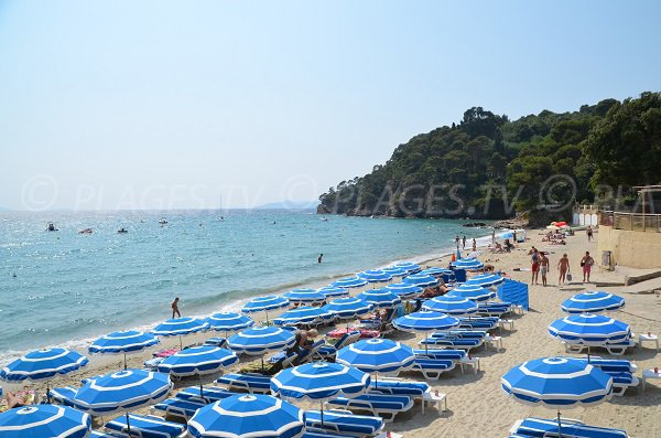 Private beaches on the Rayol beach