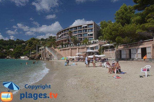 Hôtel sur la plage de Rayol Canadel