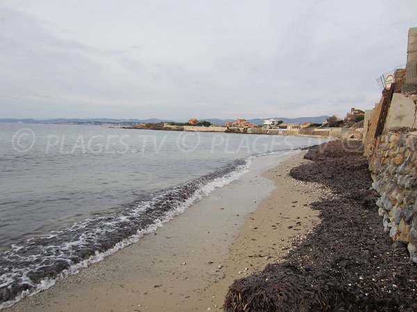 Spiaggia del Rayolet a Six Fours les Plages - inverno