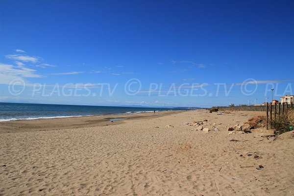 Beach supervised in Portiragnes