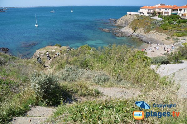 Access to Reguers beach in Collioure