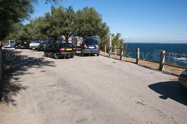 Parking de la plage de Reguers à Collioure