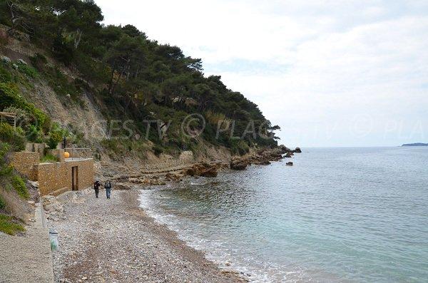 Reinette beach in St Cyr sur Mer