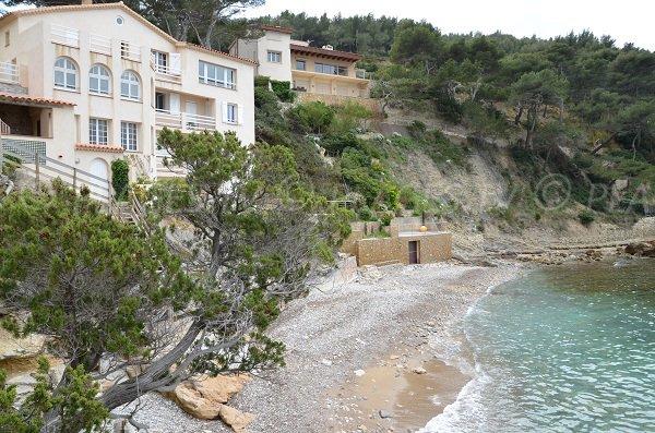 Reinette beach in Saint Cyr sur Mer - France