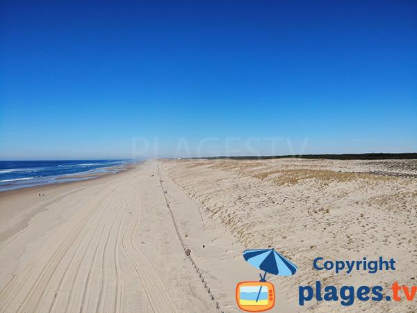 Nord de la plage de Remember - Mimizan