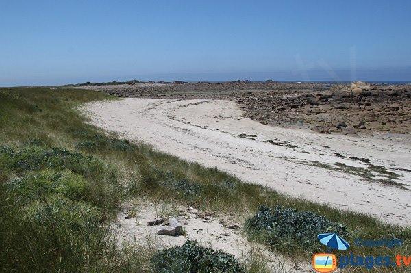 Plage sur l'ile d'Aganton - Pleumeur-Bodou