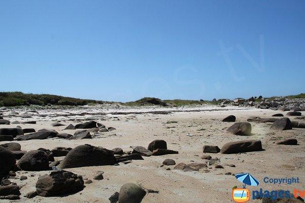 Crique sur l'ile d'Aganton - Bretagne