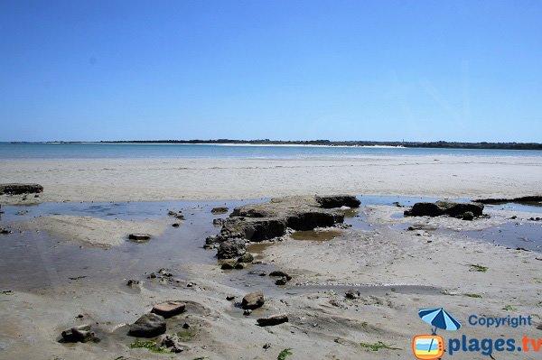 Plage dans la baie du Goulven - Bretagne