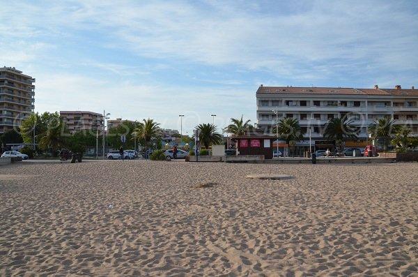 Environnement de la plage de la République