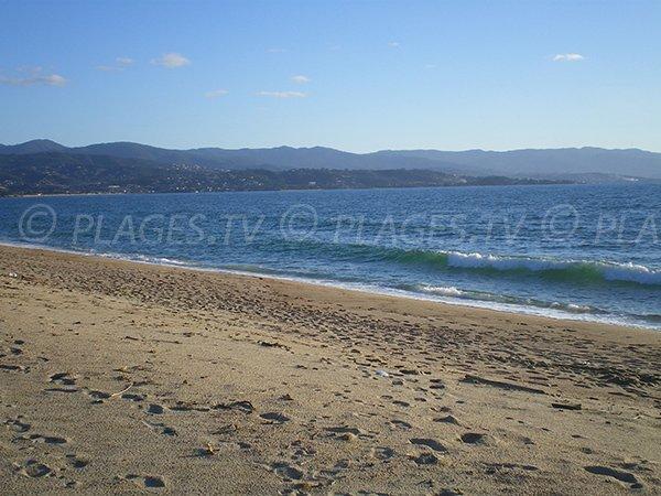 Beach near the airport of Ajaccio