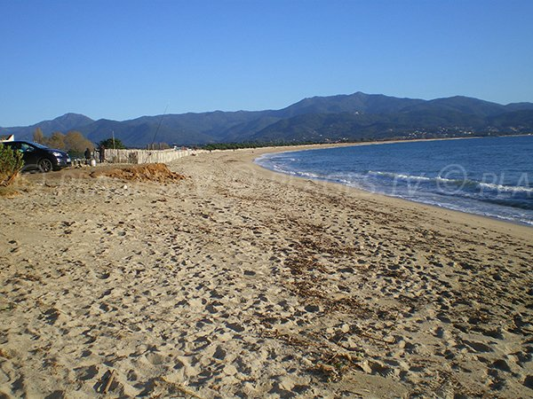 Photo of Ricanto beach - largest sandy beach of Ajaccio