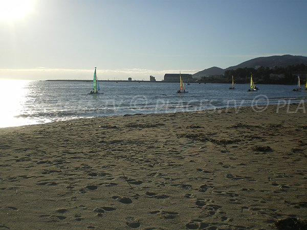 View on the Citadel from the beach - Ajaccio