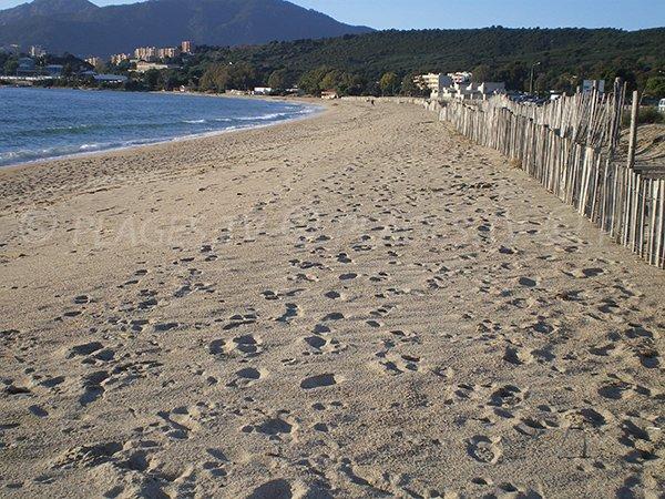 Ricanto beach in Ajaccio in Corsica