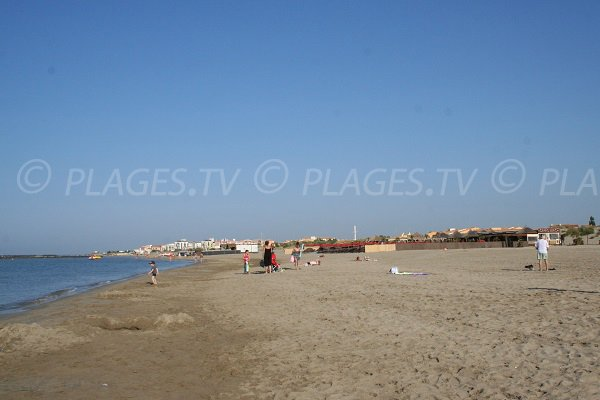 Central beach of Richelieu in Cape d'Agde