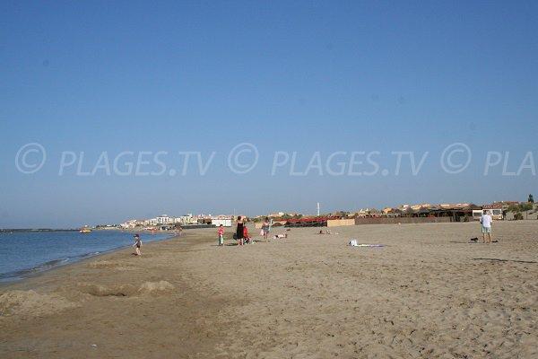 Central beach of Richelieu in Cape d'Agde