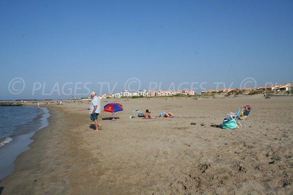 West beach of Richelieu in Cape d'Agde