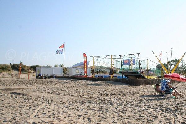 Aire de jeux pour les enfants sur la plage de Richelieu
