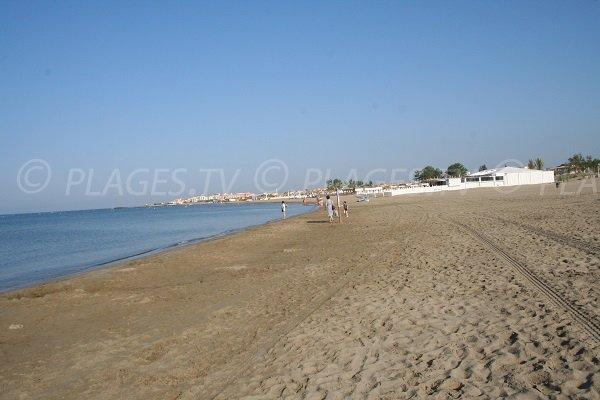 Eastern Richelieu beach in Cape d'Agde