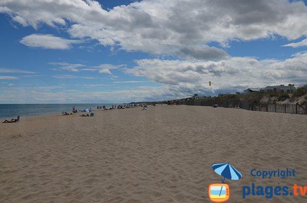 Beach with facilities in Marseillan
