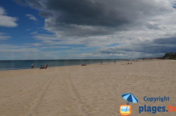 Rieu beach in Marseillan in France