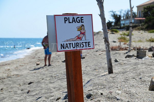 Naturist area of Riva Bella beach - Linguizzetta in Corsica