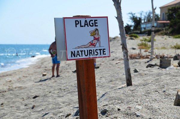 Zona nudista spiaggia di Riva Bella - Linguizzetta