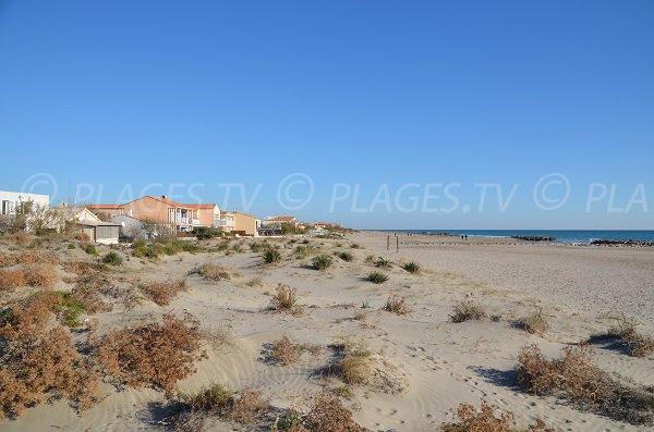 Photo de la plage de la rive Est de Frontignan