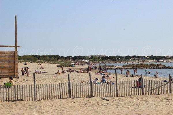 Grau du Roi beach in Seaquarium area