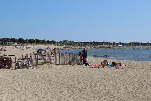 Rive Gauche beach in Grau du Roi in France