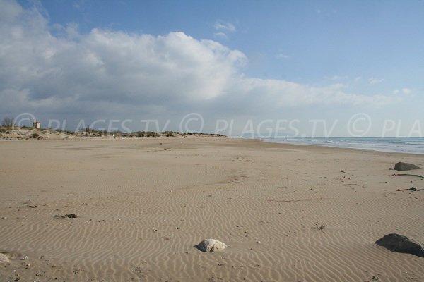 East beach of Marseillan - France