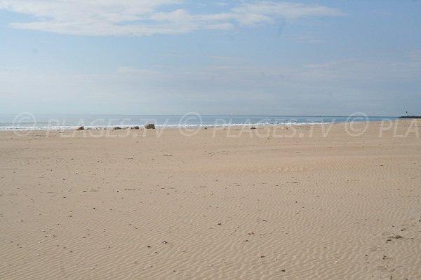 Plage publique de sable à Marseillan