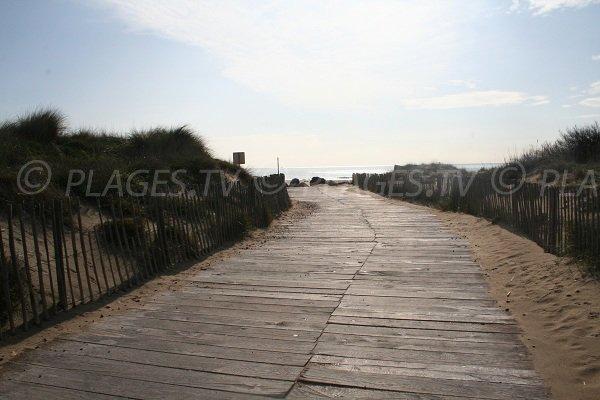 Access to Robinson beach in Marseillan