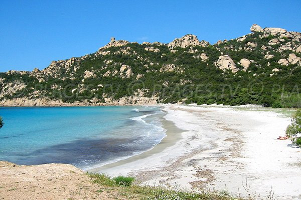 Beach of Roccapina with Lion rock