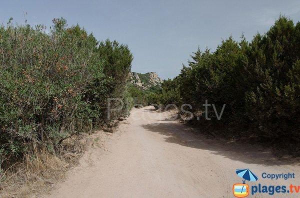 Accesso sentiero della spiaggia Roccapina