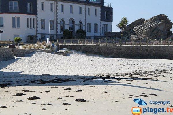 Photo de la plage du centre de thalasso de Roscoff