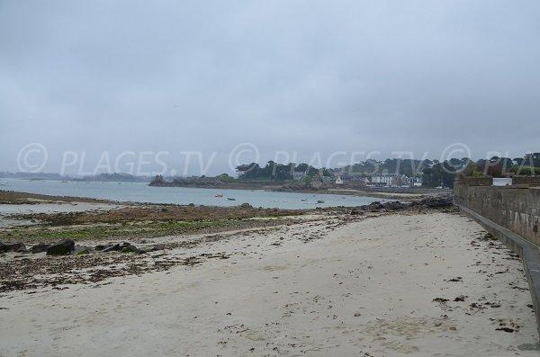Photo de la plage de Rochanic à marée basse - Port Blanc
